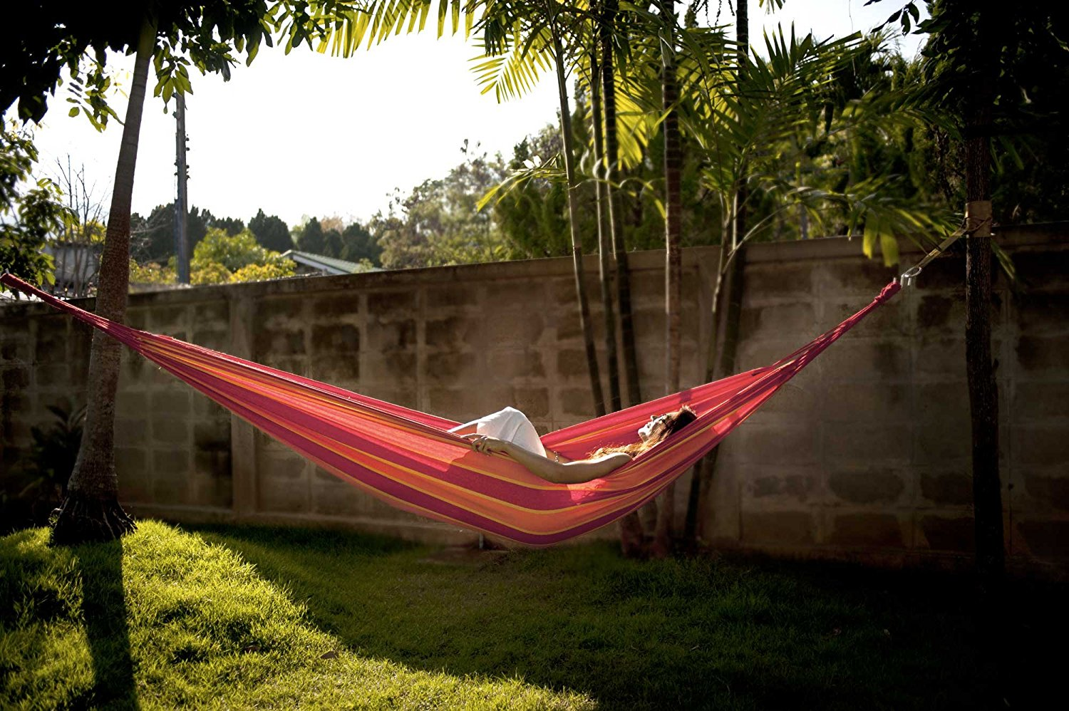 A Brazilian Double Hammock made by Hammock Sky that you can use as a cheap replacement for your mattress