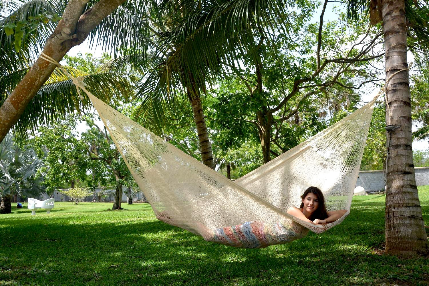 The handmade Woven Yucatan Hammock that you can use to replace your bed